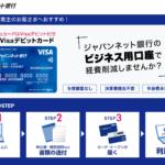 ジャパンネット銀行(ビジネス用口座開設)
