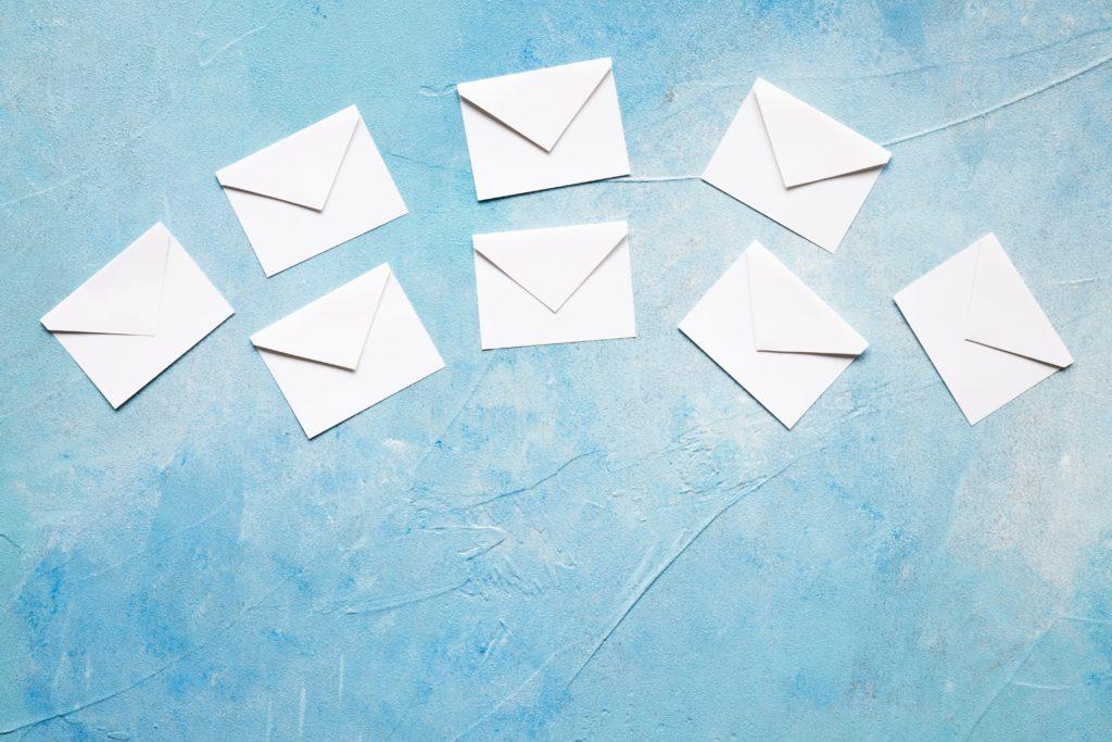 メールがたくさん